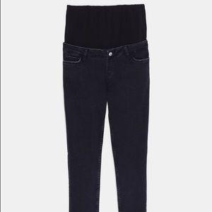 Zara black ZW premium skinny mommy fit jeans